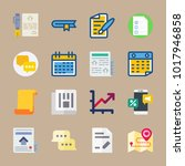 icons letter and paper with... | Shutterstock .eps vector #1017946858