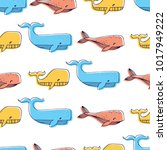 seamless vector pattern with... | Shutterstock .eps vector #1017949222