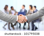 handshake isolated on business... | Shutterstock . vector #101795038