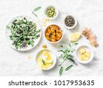ingredients for liver detox... | Shutterstock . vector #1017953635