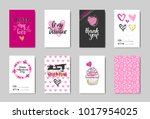 cute valentine day greeting... | Shutterstock .eps vector #1017954025