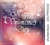 happy valentine day creative... | Shutterstock .eps vector #1017954142
