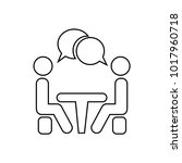 conference icon. people sitting ... | Shutterstock .eps vector #1017960718