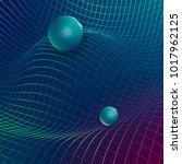 gravitational waves concept... | Shutterstock .eps vector #1017962125