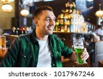 people  leisure and st patricks ...   Shutterstock . vector #1017967246
