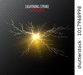 half transparent lightning bolt ... | Shutterstock .eps vector #1017968998