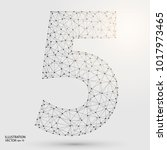 abstract number five  figure 5  ... | Shutterstock .eps vector #1017973465
