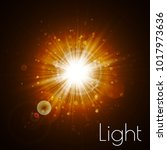 star burst with sparkles. light ... | Shutterstock .eps vector #1017973636