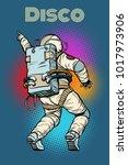 astronaut dancing disco. pop...   Shutterstock .eps vector #1017973906