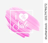 i love sale sign with a heart... | Shutterstock .eps vector #1017979072
