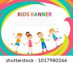 children banner template   Shutterstock .eps vector #1017980266