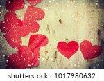 valentines hearts background | Shutterstock . vector #1017980632