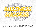 business success   doodle... | Shutterstock . vector #1017982666