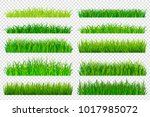spring green grass borders... | Shutterstock .eps vector #1017985072