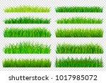 spring green grass borders... | Shutterstock .eps vector #1017985072