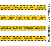 caution tape  police line and... | Shutterstock .eps vector #1017985162