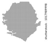 pixel mosaic map of sierra...