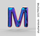 metallic  shiny holographic ...   Shutterstock . vector #1017993748