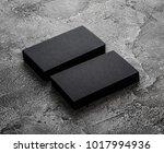 two stacks of black blank... | Shutterstock . vector #1017994936