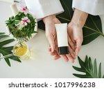 the scientist dermatologist... | Shutterstock . vector #1017996238