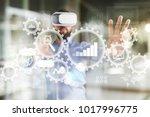 big data analytics. bi business ... | Shutterstock . vector #1017996775