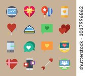 icons romance lifestyle with...   Shutterstock .eps vector #1017996862