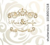 elegant wedding card ... | Shutterstock .eps vector #1018001218
