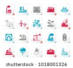 stylized electricity and energy ... | Shutterstock .eps vector #1018001326