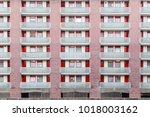 the golden lane estate  a... | Shutterstock . vector #1018003162