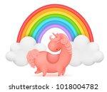 unicorn cartoon character... | Shutterstock .eps vector #1018004782