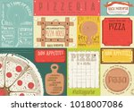 pizzeria placemat   paper... | Shutterstock .eps vector #1018007086