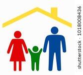 family logo concept. | Shutterstock .eps vector #1018008436