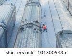 moscow  feb. 01  2018  winter... | Shutterstock . vector #1018009435