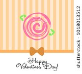 greeting card with st.... | Shutterstock .eps vector #1018013512