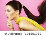 fashion photo of  beautiful... | Shutterstock . vector #101801782