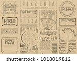 pizzeria placemat   paper... | Shutterstock .eps vector #1018019812