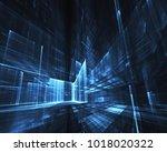 fractal art   computer image ... | Shutterstock . vector #1018020322