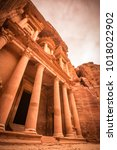 al khazneh temple  petra  jordan   Shutterstock . vector #1018022902