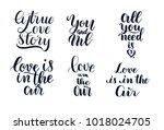 happy valentine's day hand... | Shutterstock .eps vector #1018024705