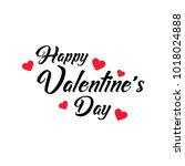 happy valentines day typography ... | Shutterstock .eps vector #1018024888