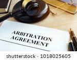 arbitration agreement... | Shutterstock . vector #1018025605