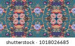 seamless gentle ornamental... | Shutterstock .eps vector #1018026685