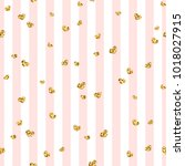 gold heart seamless pattern.... | Shutterstock .eps vector #1018027915