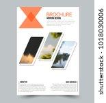 flyer design template. brochure ... | Shutterstock .eps vector #1018030006