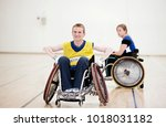 para rugby players in... | Shutterstock . vector #1018031182