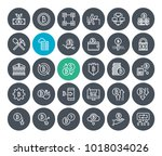 thin line cryptocurrency icons...   Shutterstock .eps vector #1018034026