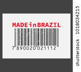 vector realistic barcode  made... | Shutterstock .eps vector #1018034215