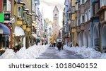 vipiteno  italy   january 23 ... | Shutterstock . vector #1018040152
