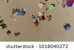aerial top down summer photo of ... | Shutterstock . vector #1018040272