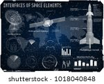 space background hud  space... | Shutterstock .eps vector #1018040848